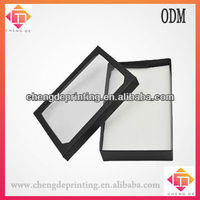 black paer earring gift boxes with clear window