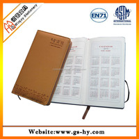 A6 Notebook leather for diary cover 2014