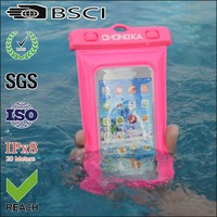 fashion waterproof mobile phone pouch/waterproof mobile phone case/cellphone pvc waterproof pouch
