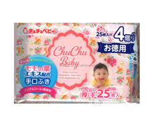 Japan Baby Hand and mouth wipes ( baby wet wipe ) contains 25sheets x 4packs Wholesale