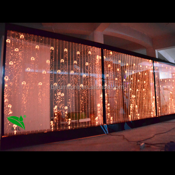 Decorative LED water bubble panel wall feature design home partition walls