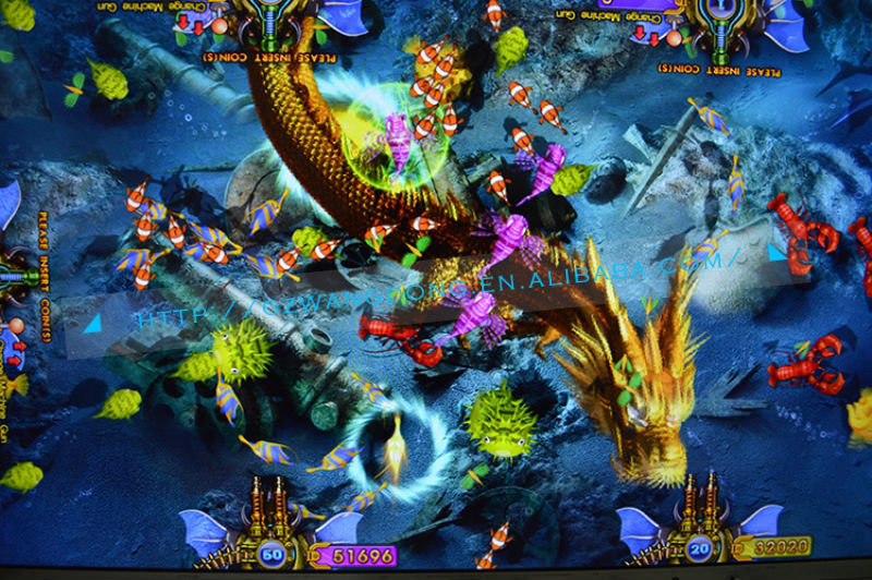 Arcade fishing game machine ocean monster for dragon king for Ocean king fish game