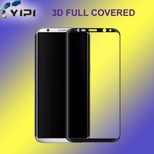 3D Screen Guard!!! Mobile Phone Accessory Full Cover Tempered Glass Screen Protector For Galaxy S8~