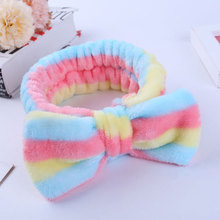 Striped Ladies Hair Bands Funny Facial Headband