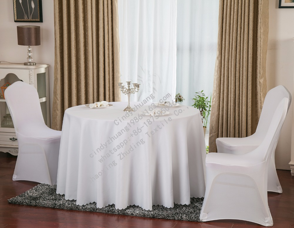 Cheap white restaurant round table cloth factory
