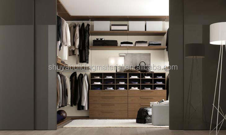 Open wardrobe design walk in closet
