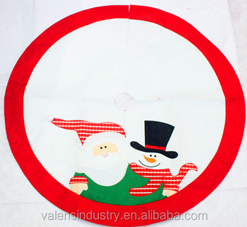Elegant Factory Direct Handmade OEM Wholesale Santa Claus Christmas Tree skirt/cover/costume with Santa Claus Christmas tree