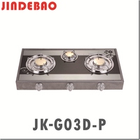 JK-G03D-P glass top erou gas stove gas cooker