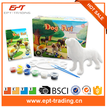 3d dog model diy coloring stone painting toy kit