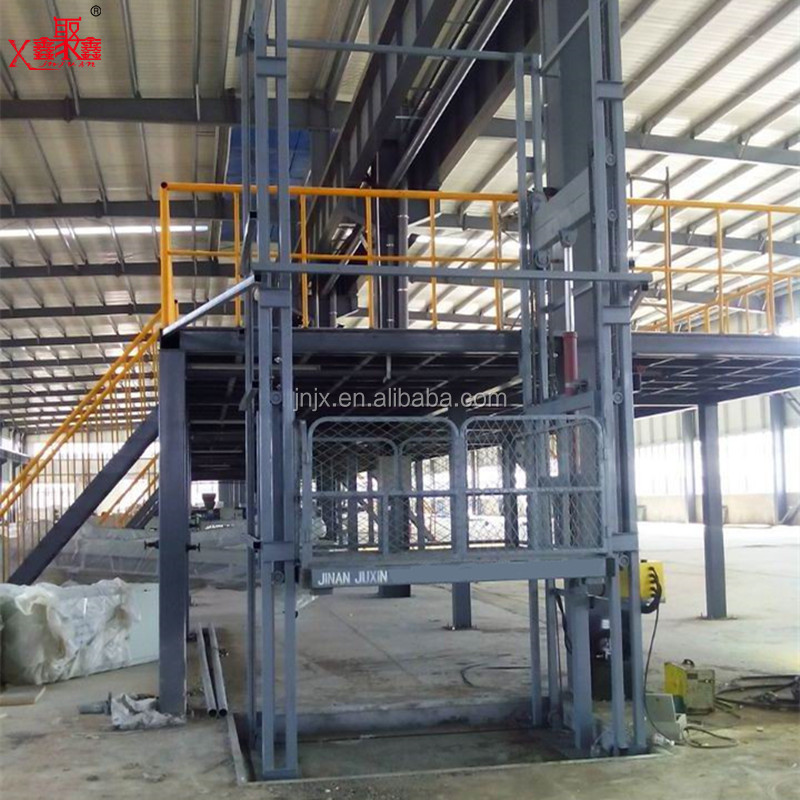Warehouse vertical lift platform hydraulic cargo lift