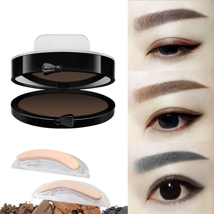Newest makeup for individual buyer pressed powder private label waterproof eyebrow stamps