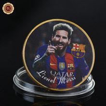 WR 1 oz 999 24k Gold Plated Coin Commemorative Customized Lionel Messi Challenge Coin Home Decor Golden Coin