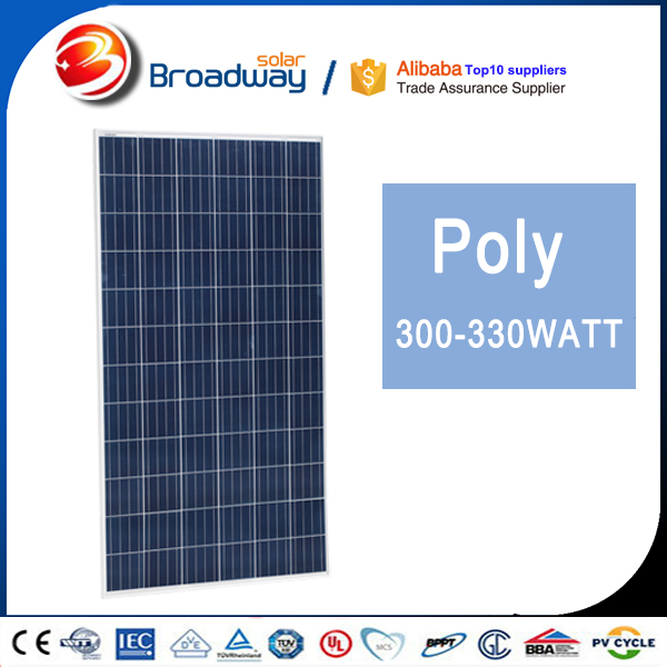 Broadway 310w 315w 320w Poly Solar Panel For Electricity Solar Module