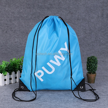 Wholesale fashion promotional cheap drawstring backpack school bag
