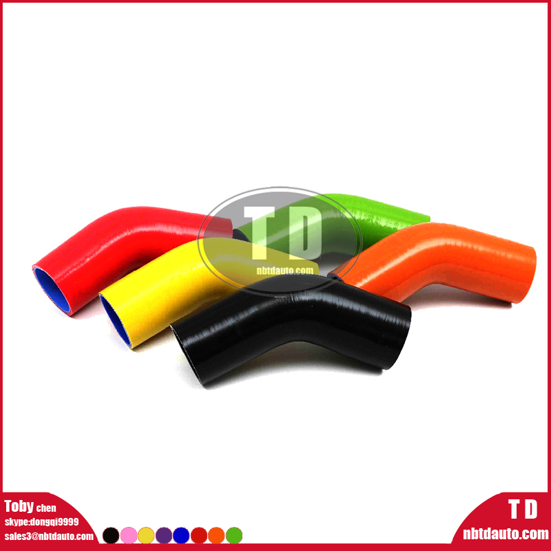 Color Elbow 45 Degree Polyester Reinforced Silicone hose blue red black samco