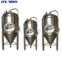 KUNBO Used Wine Equipment Cooled Stainless Conical Fermenter Adjustable Fermenting Crock Pot