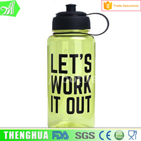 1000ml Plastic Drinking Water Bottle With Handle Suction Cup