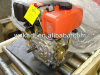 186F model 8HP air cooled small electric start 4 stroke diesel engine