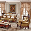 European style wooden antique furniture living room sofa set