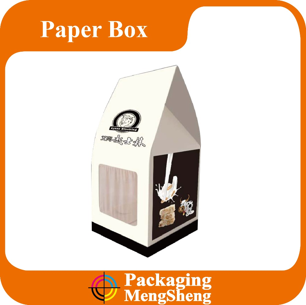 house shape gift box, house shaped cardboard box, house shape cake box