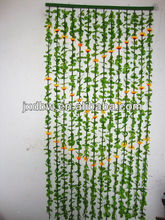 Vertical Leaf Pattern Sunflower Blind Curtain Decorative Beads