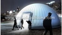 2016 New design inflatable dome tent with LED lights N5178