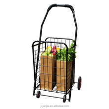 large folding shopping cart rolling 4-wheel utility wagon, jumbo shopping cart