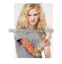 Wholesale 2014 Hot sales High Quality 92% Nylon+8% Spandex Women Men True Love Fake Tattoo Sleeves