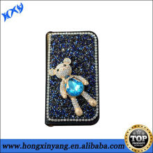 crystal bling phone case for iphone with wallet leather