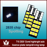 T10 W5W 194 168 LED Bulb 12SMD 2835 LED Auto Car wedge light Width Lamp