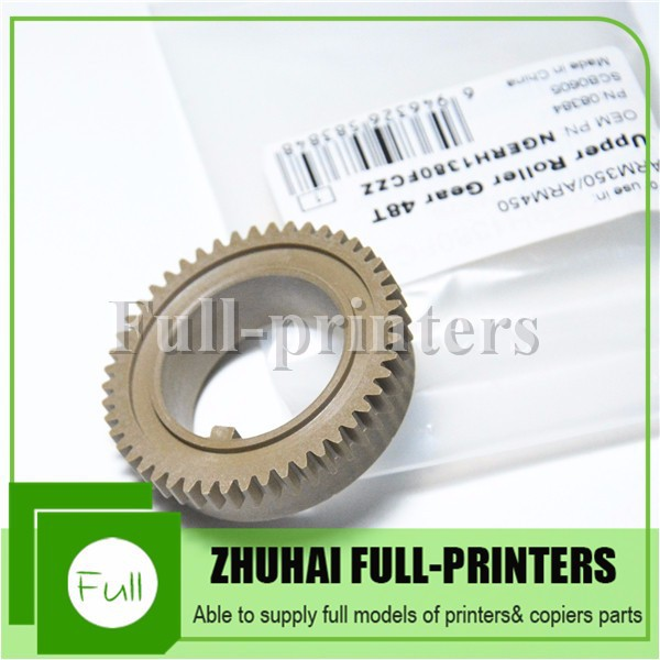 laser printer spare parts for SHARP ARM350/ARM450 plastic upper fuser roller gear 48T