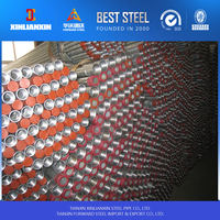 with threading and coupling cap hot dipped galvanized steel pipe