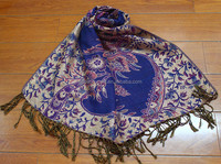 High quality fashionable polyester jacquard flower printed scarf shawl hijabcustom scarf