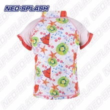 Hot Design UV Protection Short Sleeves Girls Swimwear