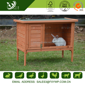 Quality assurance carefully polished large wooden bunny hutch image for garden use