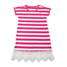 2017 summer New Style Ruffle Knitted Cotton Net Latest Frock Design For Baby Girl