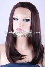 Lace front wig made of synthetic hair