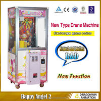 Indoor coin acceptor arcade cheap hot sale toy mini claw crane machines for sale