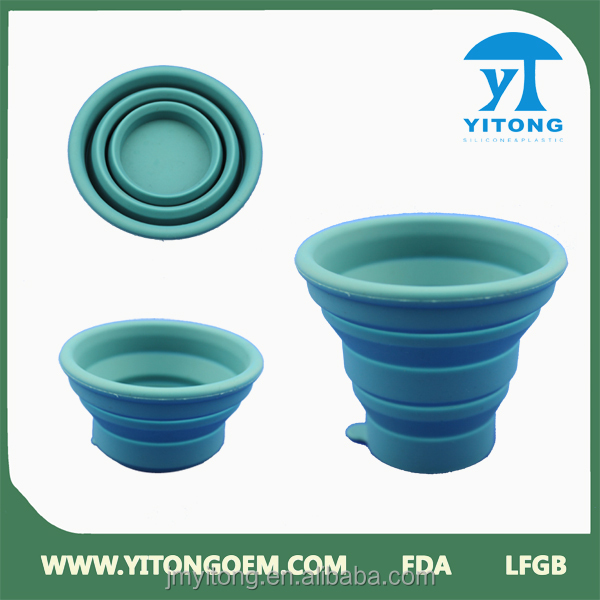 Portable Heat Resistance Folding Silicone Cup