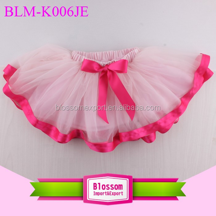Blossom Wholesale Girls Ballerina Skirt Kids Tutu Skirt Candy Color 3 Layers Tulle Tutu Skirt