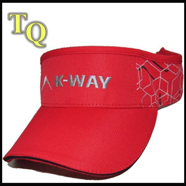 fashion red custom embroidery sun visors wholesale