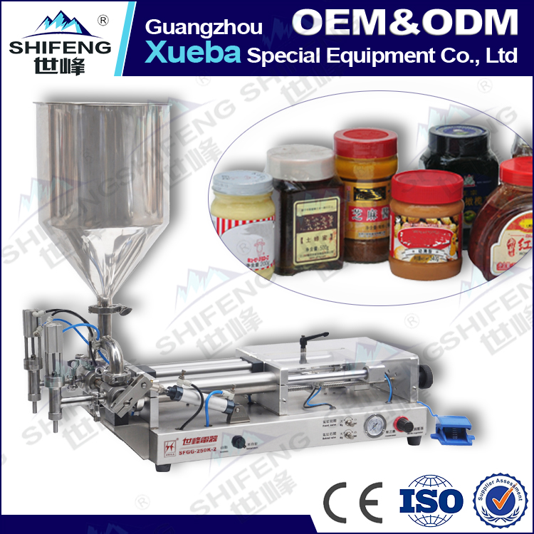 2016 Best price Tomato sause filling machine Cream filling machine Honey jar filling machine