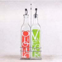 oli and vinegar bottle with stand