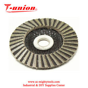 Electroplated diamond grinding flap disc flexible disc