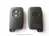 factory wholesale replacement 2 button black smart key shell for toyota camry car key cover