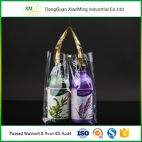 Fashionable service provided transparent pvc cosmetic bag bath set