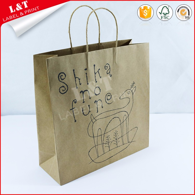Wholesale Recycled Kraft Paper Bag China