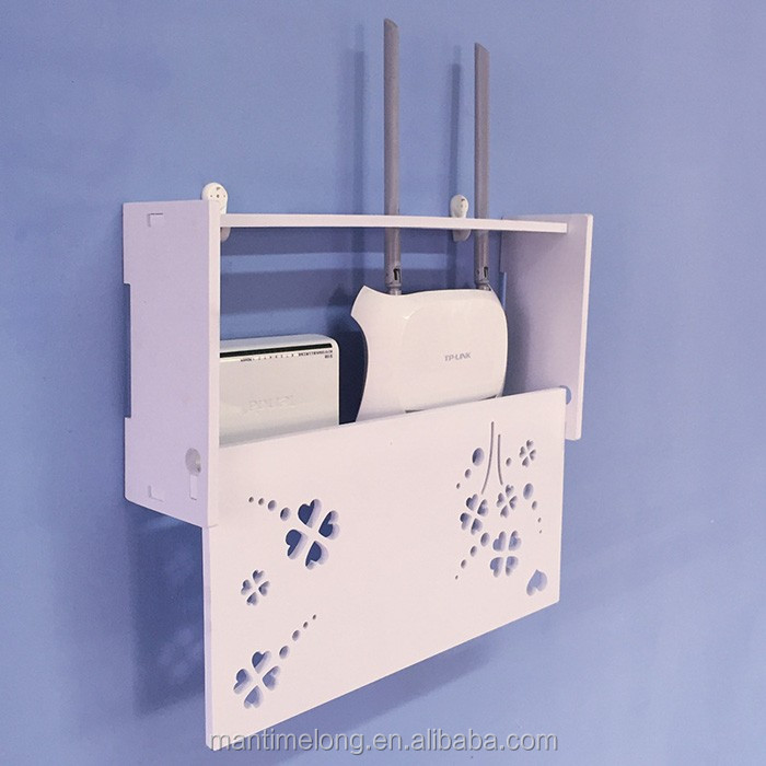 Creative and environmentally friendly wall-mounted storage box router thread storage shelf
