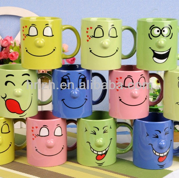 Wholesale Ceramic Funny Face Shape Coffee Mugs Buy Face