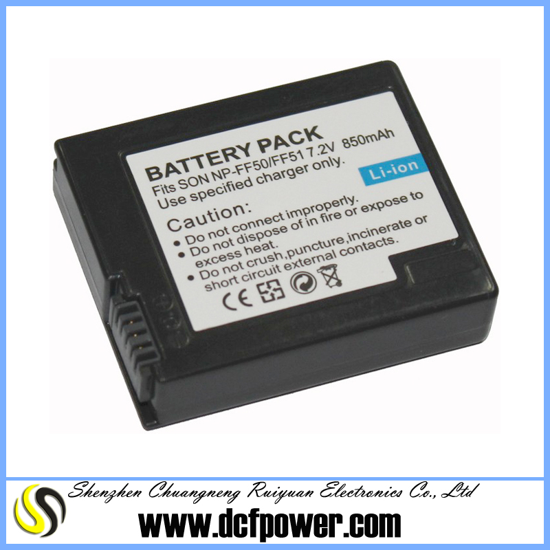 7.2v 850mah NP-FF50 FF51 for sony DCR-HC1000E IP1 IP5 IP220 IP7BT PC106 camcorder battery